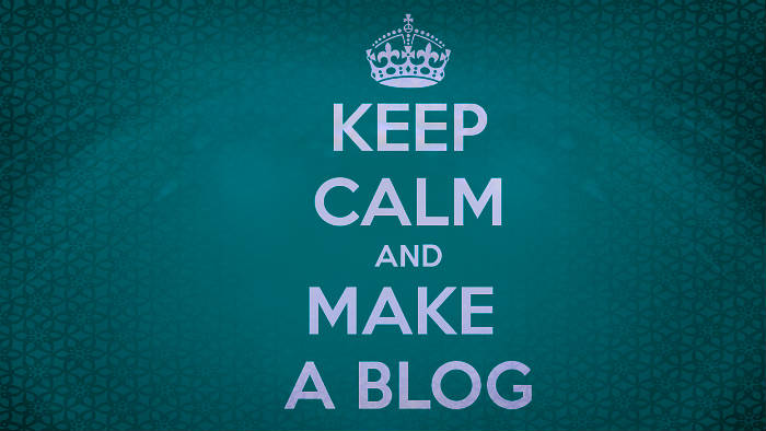 Keep Calm and make a blog