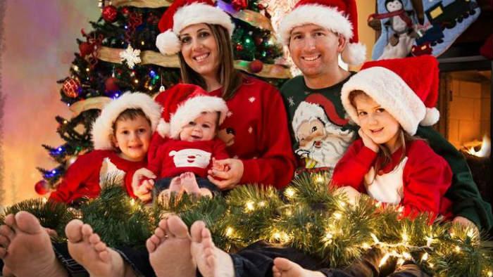 Negocios fugaces de navidad foto familia