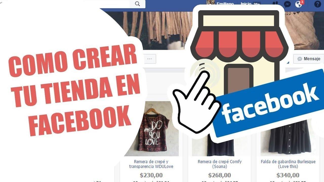 crear una tienda virtual en Facebook